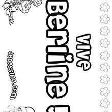 Berline - Coloriage - Coloriage PRENOMS - Coloriage PRENOMS LETTRE B