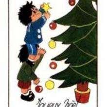 Dessin d'enfant : Bonne fêtes de fin d'année!