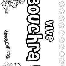 Bouchra - Coloriage - Coloriage PRENOMS - Coloriage PRENOMS LETTRE B