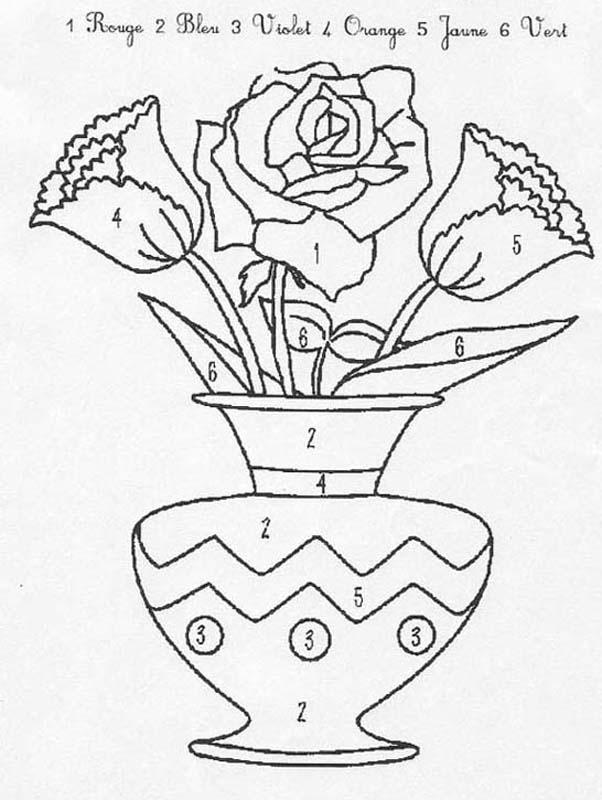 Coloriages Bouquet De Fleurs Fr Hellokids Com