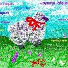 Brebis de Pâques - Dessin - Dessin ANIMAUX - Dessin ANIMAUX DE LA FERME - Dessin BREBIS