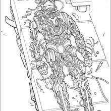 Coloriage STAR WARS de C-3PO en construction - Coloriage - Coloriage FILMS POUR ENFANTS - Coloriage STAR WARS - Coloriage C-3PO