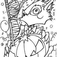 Coloriage d'un cocktail à la citrouille - Coloriage - Coloriage FETES - Coloriage HALLOWEEN - Coloriage CITROUILLE HALLOWEEN