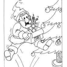 Coloriage : Le cadeau surprise du père Noël
