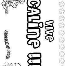 Caline - Coloriage - Coloriage PRENOMS - Coloriage PRENOMS LETTRE C