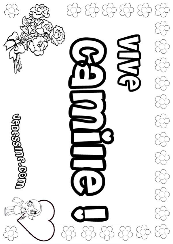 Coloriages camille - Camille dessin ...