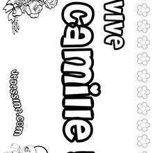 Camille - Coloriage - Coloriage PRENOMS - Coloriage PRENOMS LETTRE C