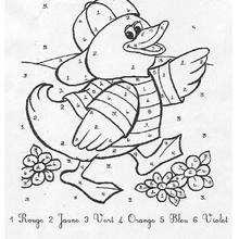 Canard - Jeux - Jeux de coloriage magique