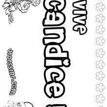 Candice - Coloriage - Coloriage PRENOMS - Coloriage PRENOMS LETTRE C