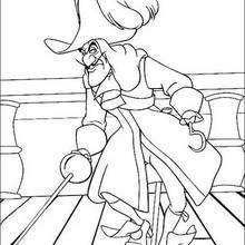 Coloriages coloriage du capitaine crochet sur son navire - Capitaine crochet coloriage ...