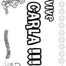 Carla - Coloriage - Coloriage PRENOMS - Coloriage PRENOMS LETTRE C