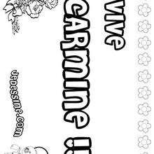 Carmine - Coloriage - Coloriage PRENOMS - Coloriage PRENOMS LETTRE C