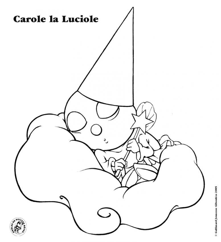 Coloriage Carole la Luciole