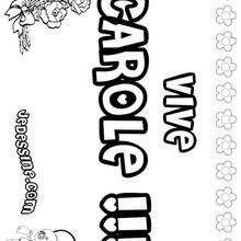 Carole - Coloriage - Coloriage PRENOMS - Coloriage PRENOMS LETTRE C