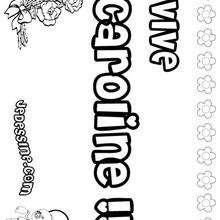 Caroline - Coloriage - Coloriage PRENOMS - Coloriage PRENOMS LETTRE C