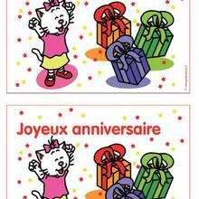 Carte d'anniversaire Charivari (fille) - Activités - BRICOLAGE FETES - BRICOLAGE POUR PREPARER LES FETES - Bricolage Anniversaire et Fêtes d'enfants