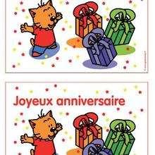 Carte d'anniversaire Charivari (garçon) - Activités - BRICOLAGE FETES - BRICOLAGE POUR PREPARER LES FETES - Bricolage Anniversaire et Fêtes d'enfants