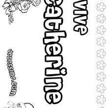Catherine - Coloriage - Coloriage PRENOMS - Coloriage PRENOMS LETTRE C