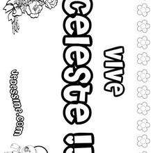 Celeste - Coloriage - Coloriage PRENOMS - Coloriage PRENOMS LETTRE C