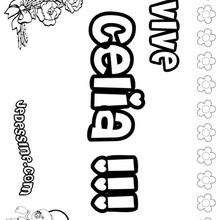Celia - Coloriage - Coloriage PRENOMS - Coloriage PRENOMS LETTRE C