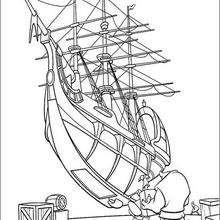 Coloriage du chargement du navire
