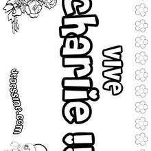 Charlie (fille) - Coloriage - Coloriage PRENOMS - Coloriage PRENOMS LETTRE C