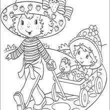 Coloriage de Charlotte et la petite fille - Coloriage - Coloriage PERSONNAGE BD - Coloriage CHARLOTTE AUX FRAISES - Coloriage CHARLOTTE AUX FRAISES GRATUIT