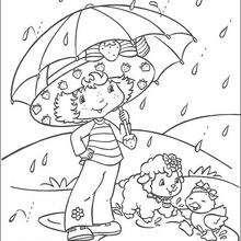 A l'abri sous son parapluie