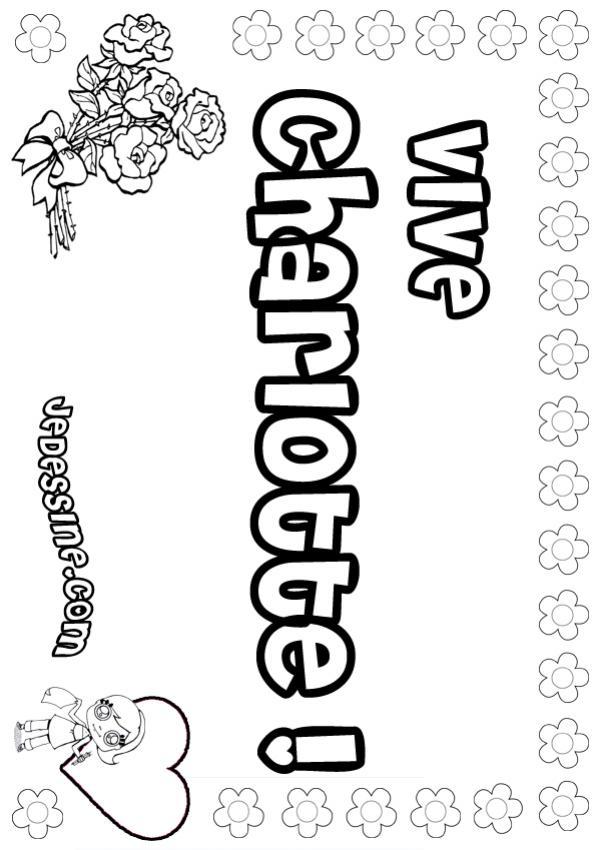Coloriages charlotte - Prenom dessin ...