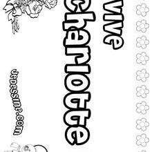 Charlotte - Coloriage - Coloriage PRENOMS - Coloriage PRENOMS LETTRE C