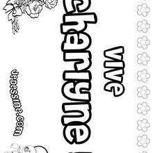 Charlyne - Coloriage - Coloriage PRENOMS - Coloriage PRENOMS LETTRE C