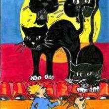 Chat noir - Dessin - Dessin FETES - Dessin HALLOWEEN - Images HALLOWEEN