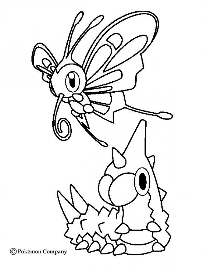 Coloriage : Chenipotte et le papillon