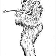 Coloriage STAR WARS de Chewbacca
