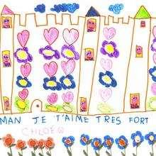 Chloé Quillerier de Mareau aux prés (France) - Dessin - Dessin FETES - Dessin FETE DES MERES - Dessin FETE DES MERES A IMPRIMER