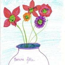 Chloé Taillades de Vic la Gardiole (France) - Dessin - Dessin FETES - Dessin FETE DES MERES - Dessin FETE DES MERES A IMPRIMER