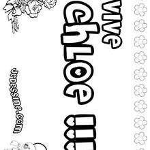 Chloe - Coloriage - Coloriage PRENOMS - Coloriage PRENOMS LETTRE C