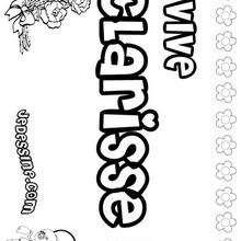Clarisse - Coloriage - Coloriage PRENOMS - Coloriage PRENOMS LETTRE C