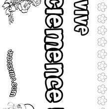 Clemence - Coloriage - Coloriage PRENOMS - Coloriage PRENOMS LETTRE C
