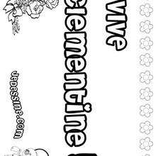 Clementine - Coloriage - Coloriage PRENOMS - Coloriage PRENOMS LETTRE C