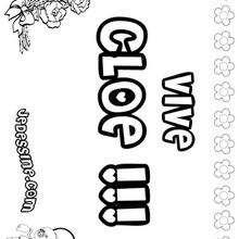 Cloe - Coloriage - Coloriage PRENOMS - Coloriage PRENOMS LETTRE C