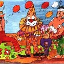 Dessin d'enfant : Clown