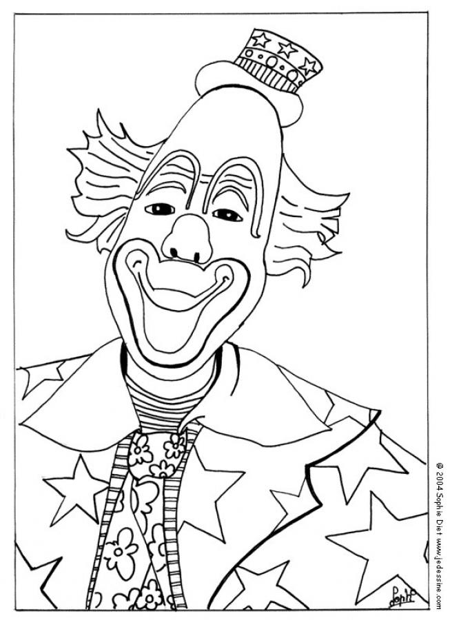 Coloriage : Visage de clown