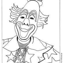 Coloriage d'un clown - Coloriage - Coloriage GRATUIT - Coloriage GRATUIT CIRQUE - Coloriage CLOWN