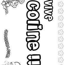 Coline - Coloriage - Coloriage PRENOMS - Coloriage PRENOMS LETTRE C