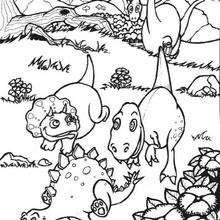Coloriage : Bébés dinosaures