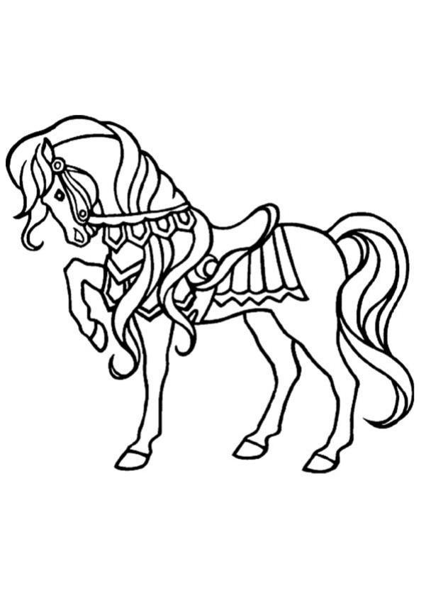 Coloriages cheval gracieux - Coloriage chevaux ...