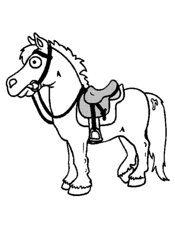 Coloriages Cheval Sell 233 Fr Hellokids Com