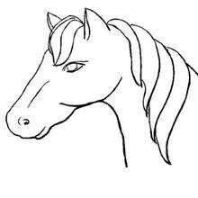 Coloriage : Coloriage d'un buste de cheval