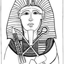 Coloriage : Pharaon avec son nekhekh et sa crosse